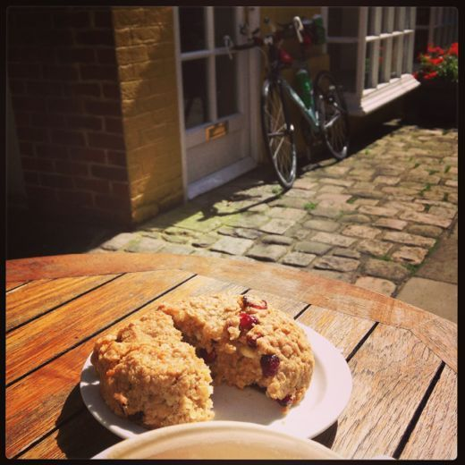 Last ride - coffee & cake, would have been rude not to