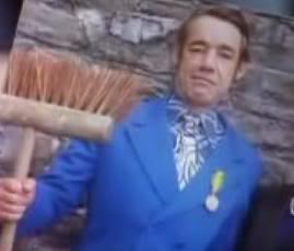 Trigger, his broom & medal