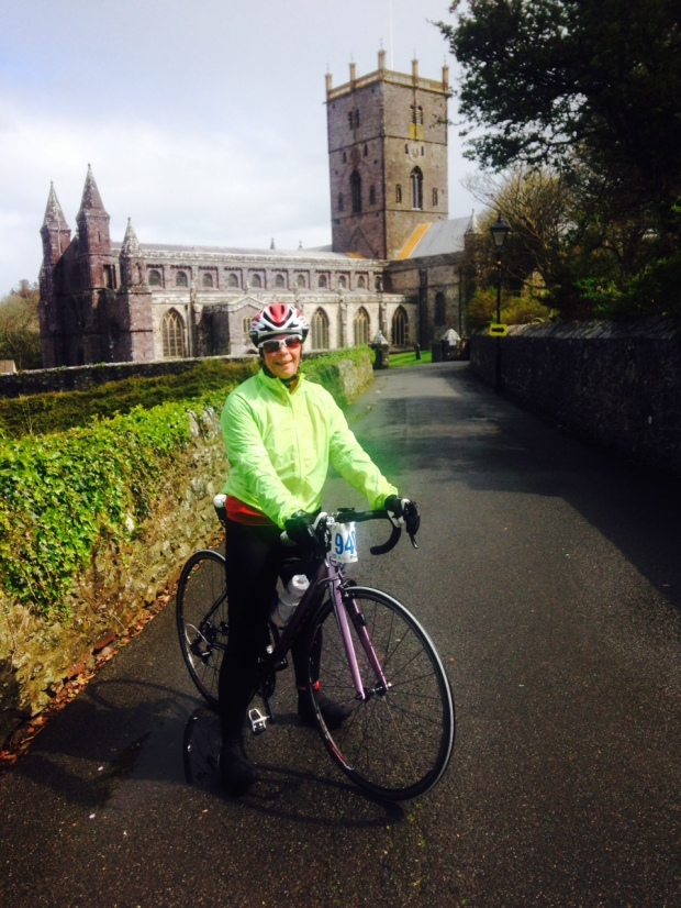 Only a 500m vertical climb from St David's Cathedral to the finish.