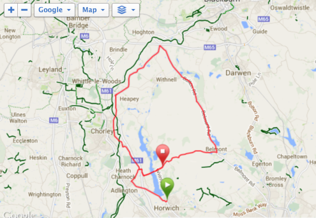 My route on the day x2