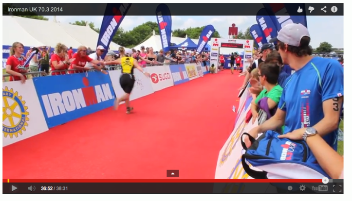 Made it into official video at 33:48 on run  & 36:50 flying finish