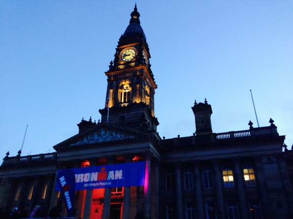 Bolton Town hall as finish backdrop