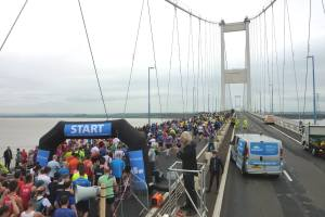 Sharing the bridge with the runners